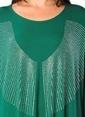 Hüseyin Küçük Büyük Beden Elbise Yeşil